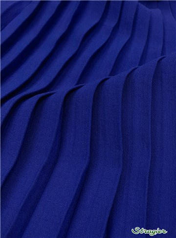 Box pleats - uni - Bleu Roi - 150 cm