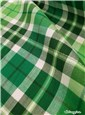 Cotton & Lurex Twill - smooth - Carreaux - Vert Emeraude