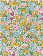 Liberty Tana Lawn - Poppy Forest - Rainbow