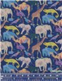 Liberty Tana Lawn - Queue For The Zoo - Deep Blue