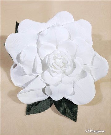 Cotton Artificial Flower - Handmade - Estelle - Stragier Soft White - 17 cm