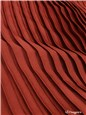 Pleated Panel - washed Satin - uni - Cochenille - 140 cm