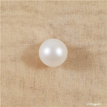 Pearl Button - Spherical - matte - Ivoire clair - 10 mm