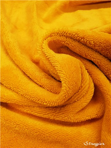 Terry Velour - Cotton & Bamboo - uni - Jaune Soleil