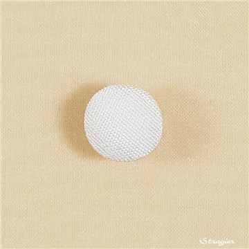Button - Hemispherical - Silk - half matte - Stragier Ivory - 12 mm