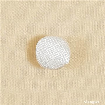 Button - Hemispherical - Soie Mikado - Stragier Pale Ivory - 12 mm