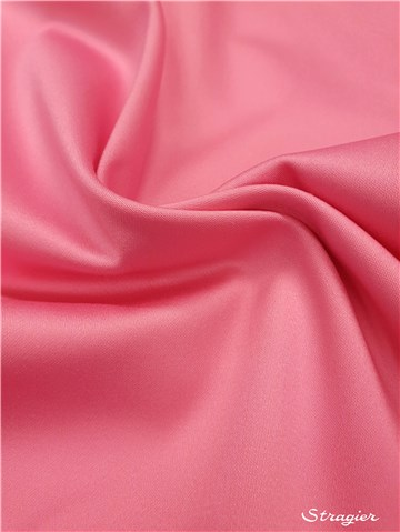 Satin de Coton Extensible - uni - Rose