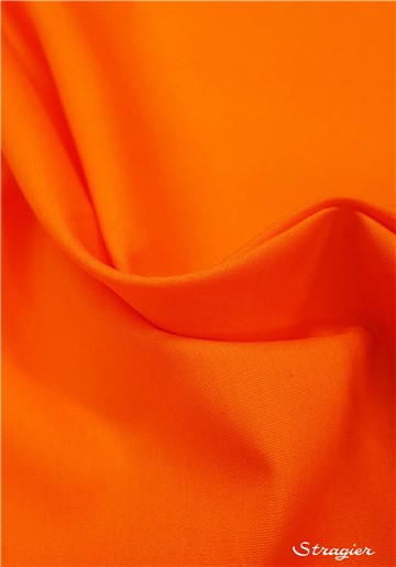 Poplin 59 threads/cm - Plain - Orange