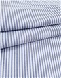 Pur Coton Oxford - Rayures 2mm - Marine