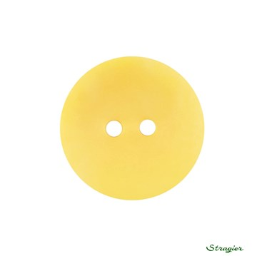 Ivory-Nut Buttons - 2 trous - Jaune Soleil - 20 mm