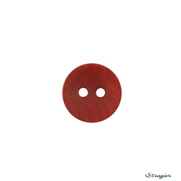 Ivory-Nut Buttons - 2 trous - Rubis - 12 mm