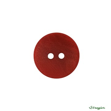 Ivory-Nut Buttons - 2 trous - Rubis - 15 mm