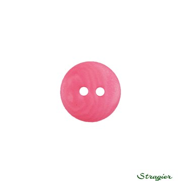 Ivory-Nut Buttons - 2 trous - Fuchsia - 12 mm