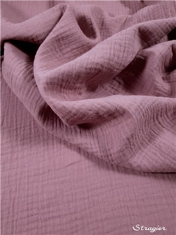 Double Gauze - Organic Cotton - GOTS - Uni - Rose Zéphyr
