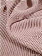 Knitted Fabric - 5mm Rib - Cotton - Uni - Rose Nude