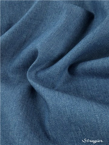 Denim Fabric 200 gr/sqm - uni - Bleu moyen