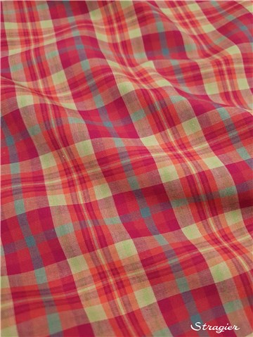 Tartan checks Cotton Poplin - Highland Rose mini - -
