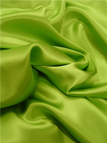 Silk Satin Crepe - Plain - Apple