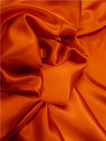 Crepe Satin en Soie - Uni - Burnt Orange