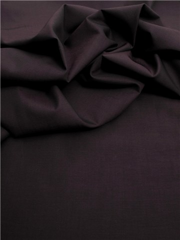 End-on-End - pure Cotton - Plain - Aubergine