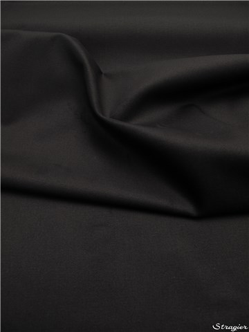 Cotton Twill - Sandwashed - Plain - Noir
