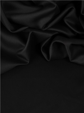 Sergé de coton noir par Stragier