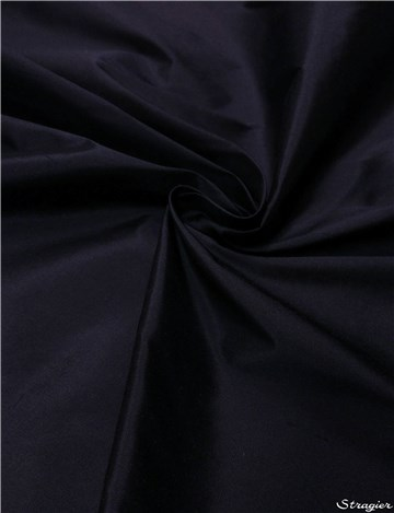 Douppion Silk - 137cm - Plain - Ink