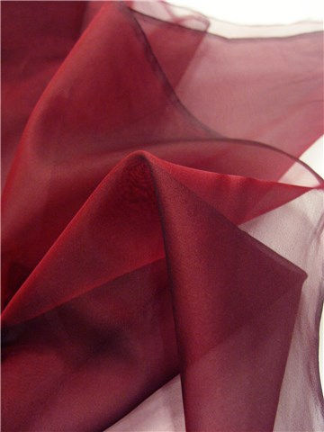 Silk Organza - Plain - Burgundy