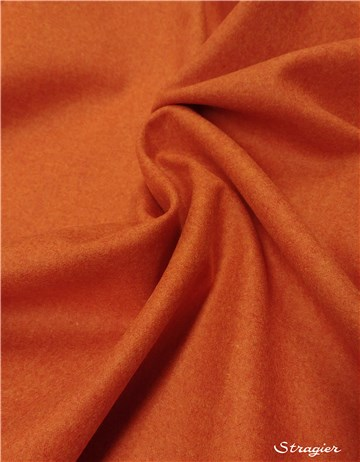 Fulled Merino Wool - Plain - Paprika