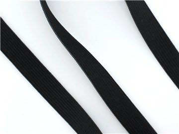 Knitted Elastic - Plain - Noir - 15 mm