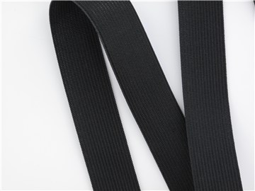 Knitted Elastic - Plain - Noir - 25 mm