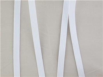 braided Elastic Tape - soft - Plain - Blanc Ecru - 7,5 mm