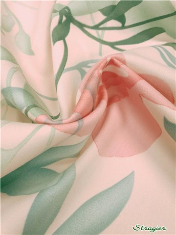 Satin de coton extensible - 010765 - Rose et Amande