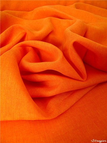 Pur Lin 180cm - uni - Orange
