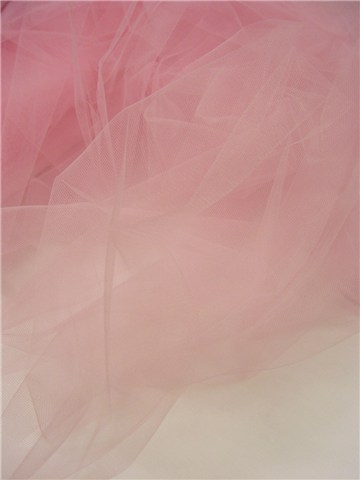 Tulle 20D- Mailles Medium - Uni - Rose