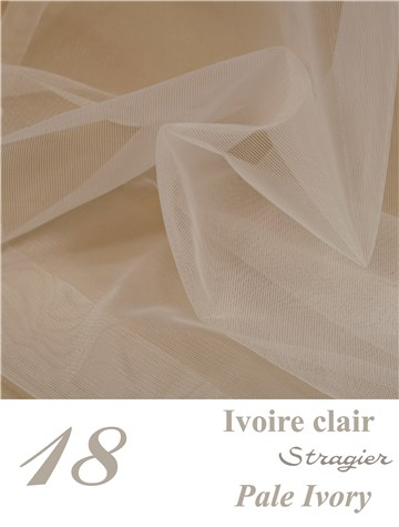 Tulle Stretch Invisible - uni - Ivoire clair Stragier