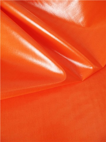 Popeline de coton enduite - Uni - Orange