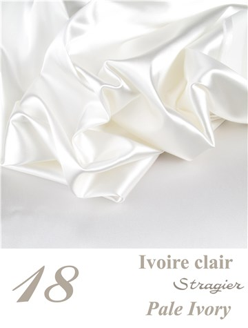 Satin Duchesse Stretch - uni - Ivoire clair Stragier
