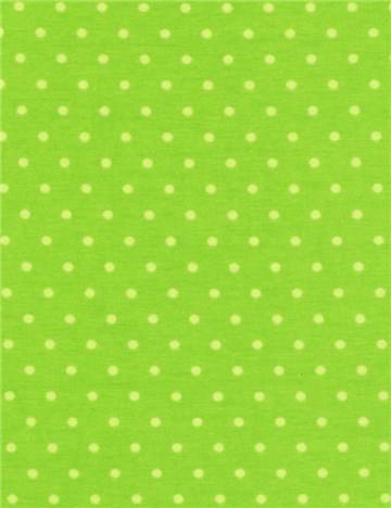 Jersey Coton stretch - Puntis 3mm - Vert Pomme