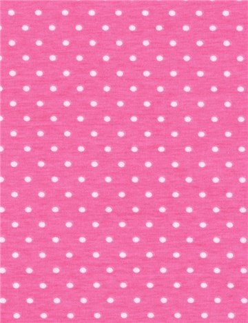 Jersey Coton stretch - Puntis 3mm - Rose