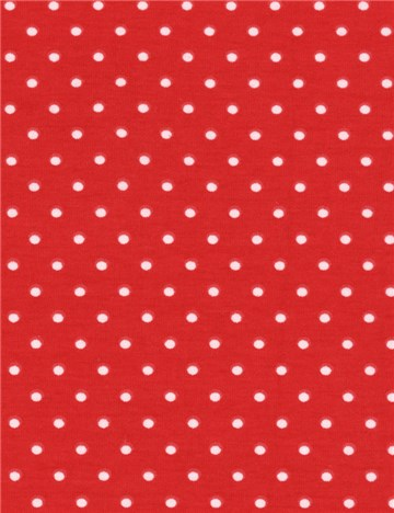 Jersey Coton stretch - Puntis 3mm - Rouge
