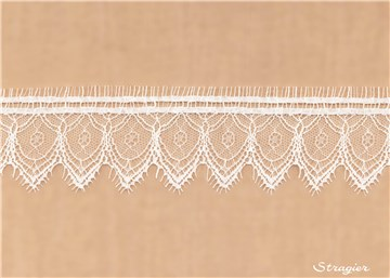 Dentelle Chantilly - Reims - Ivoire Stragier - 5 cm