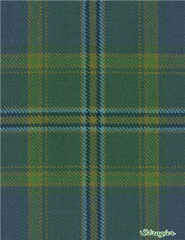 Tartan Ecossais Pure Laine - All Ireland Blue -