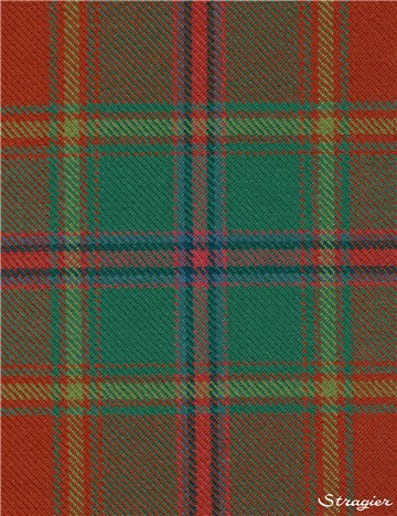 Tartan Ecossais Pure Laine - All Ireland Red -