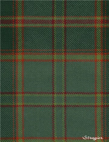 Tartan Ecossais Pure Laine - All Ireland Green -