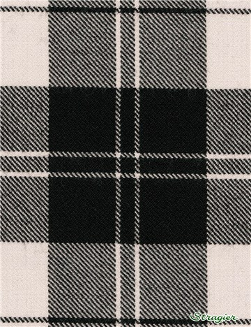 Tartan Ecossais Pure Laine - Erskine Black and White -
