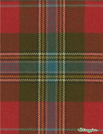 Tartan Ecossais Pure Laine - Maclean of Duart Weathered -