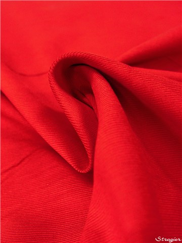 Velours Milleraies Soft - uni - Rouge Carmin