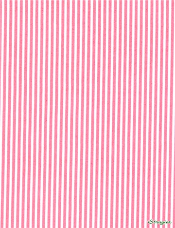 Popeline pur Coton - Rayures 2mm - Rose