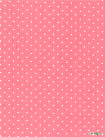 Popeline pur Coton - Pois 1,5mm - Rose